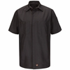 SY20CH Charcaol Ripstop Solid Short Sleeve Crew Shirt