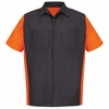 SY20CO Charcoal/Orange Short Sleeve Crew Shirt