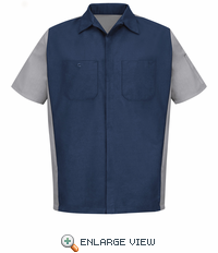 SY20NG Navy/Grey Short Sleeve Crew Shirt