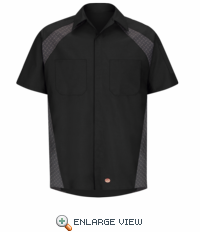 SY26BD Black Diamond Plate Shop Shirt - Short Sleeve