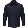 SY30NL Navy Long Sleeve Striped Color Block Shirt