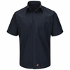 SY40NL Navy/Light Blue Striped Short Sleeve Color Block Shirt