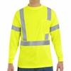 SYK2HV Hi-Visibility Fluorescent Yellow/Green Long Sleeve T-Shirt