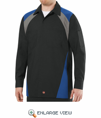 Tri-Color Shop Shirt Long Sleeve