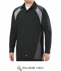 Tri-Color Shop Shirt Long Sleeve Black/Grey/Charcoal SY18BC