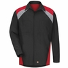 Tri-Color Shop Shirt Long Sleeve Black/Grey/Red SY18TR
