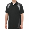 Tri-Color Shop Shirt Short Sleeve Black/Grey/Charcoal SY28BC
