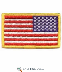 """United State Embroidered Flag (Reverse) - 3-3/8"""" x 2"""""""