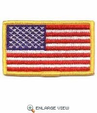 "United State Embroidered Flag - 3-3/8"" x 2"""