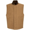 VD22BD Blended Brown Duck Insulated Snap Front Vest