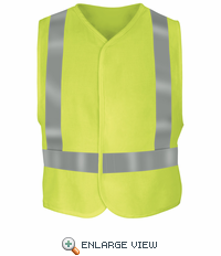 VMV4HVa HI VISIBILITY Yellow/Green Flame-Resistant Safety Vest