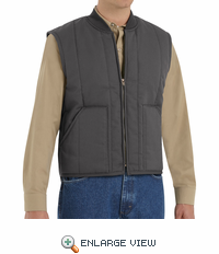 VT22CH Charcoal Quilted Work Vest
