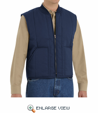 VT22NV Navy Quilted Work Vest