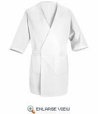 WP10WH White Collarless Butcher Wrap