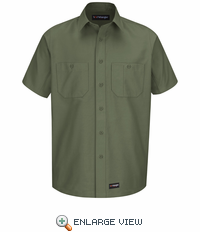 Wrangler Long Sleeve Olive Green Workshirt WS20OG