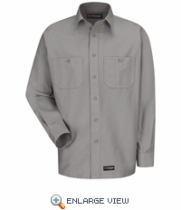 Wrangler Long Sleeve Silver Workshirt WS10SV