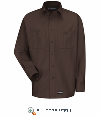 Wrangler Long Sleeve Chocolate Brown Workshirt WS10CB