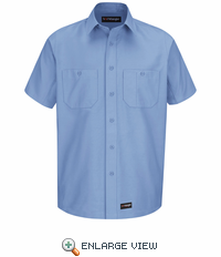 WS20LB Wrangler Short Sleeve Light Blue Workshirt