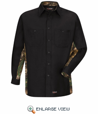 WS30BC Black/Camo Wrangler Long Sleeve Workshirt