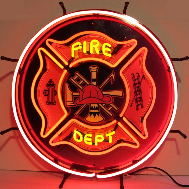 Firefighter Man Cave Signs : Fire department neon sign firemen will love it