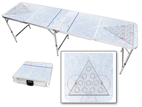 Hockey Rink Beer Pong Table