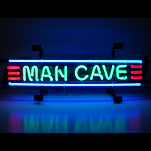 Electric Man Cave Signs : Man cave small red green and blue neon sign for sale buy