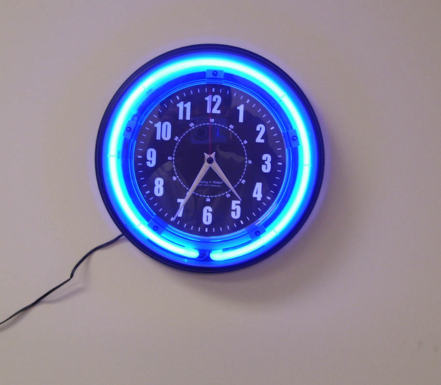 Neon Wall Clock Spy Camera w/ DVR