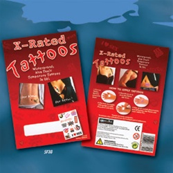 Buy the x rated temporary tattoos on sale now for X rated tattoos