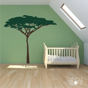 Acacia Jungle Safari Tree Wall Decal