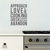 Approach Love and Cooking - Wall Decals