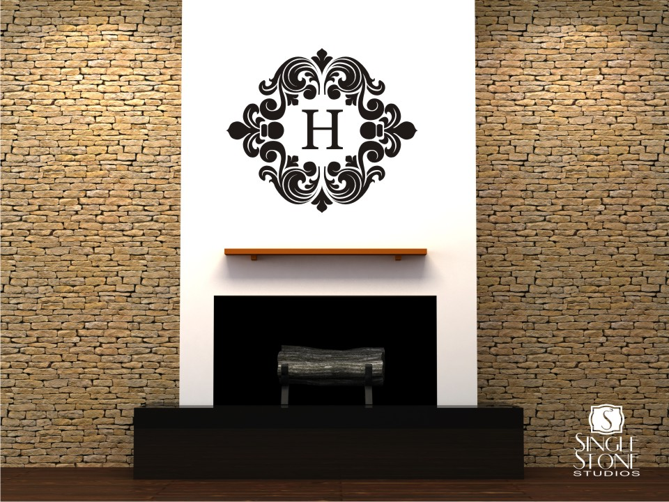 Baroque Monogram   Wall Decals