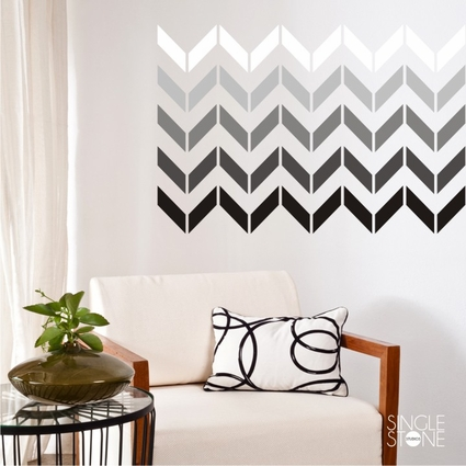 Chevron Pattern (smaller design) - Wall Decals