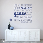 Come Boldly - Wall Decals