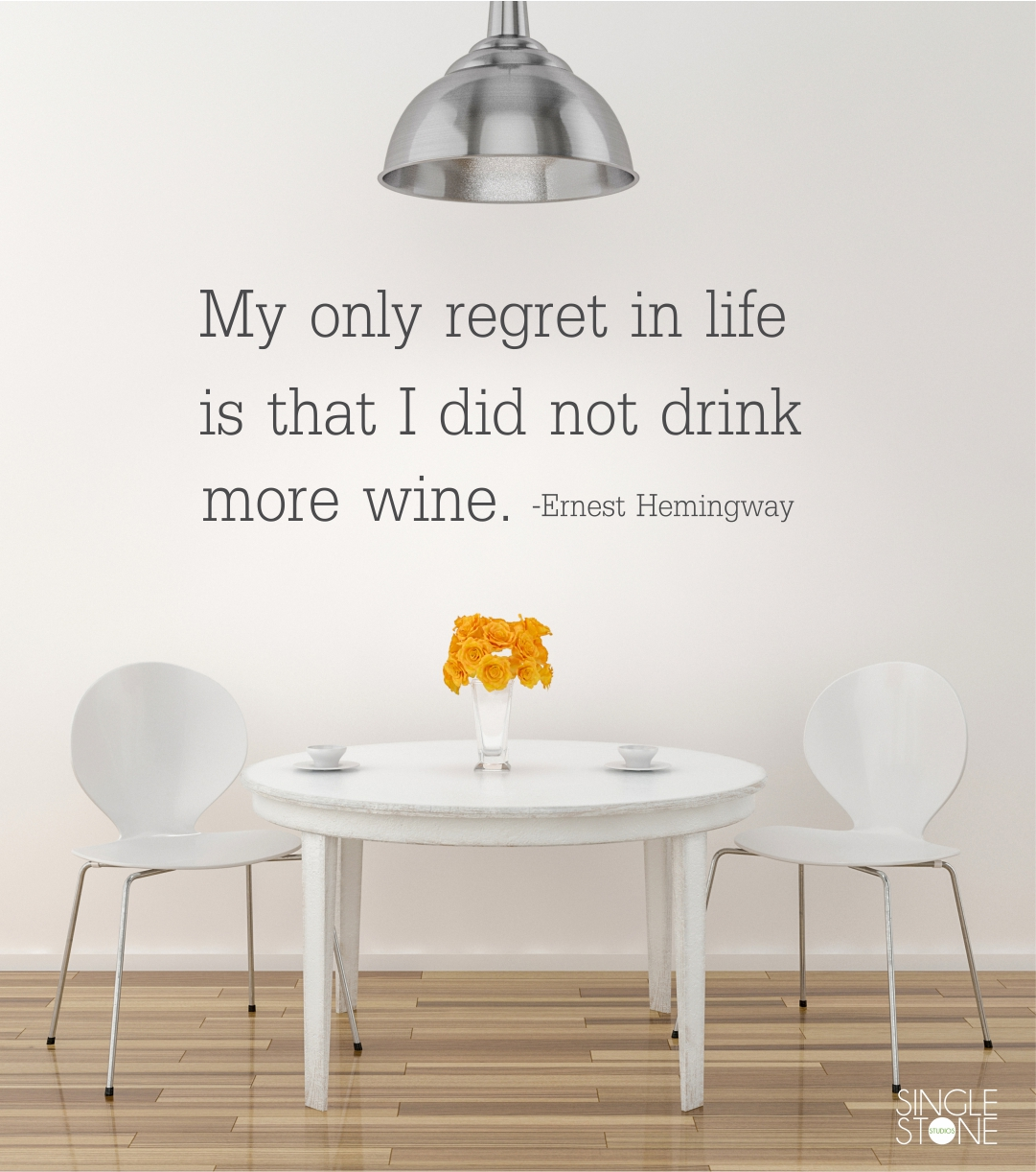 Drink More Wine Ernest Hemingway Wall Decal Quote Wall Decals