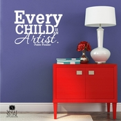 Every Child Is An Artist Picasso - Wall Decals