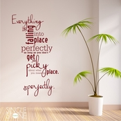 Falling Into Place - Wall Decals
