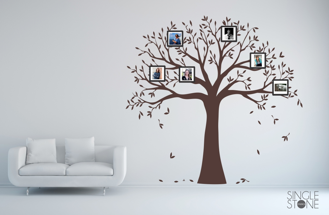 Family Tree Photo Frame Wall Decal Wall Decals Wall Stickers