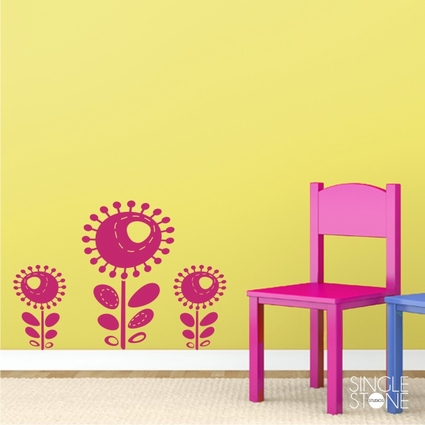 Funky Flowers - Wall Decals