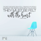 Helen Keller Felt With The Heart - Wall Decals