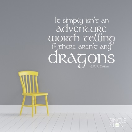 Lord of the Rings Dragon Quote Wall Decal