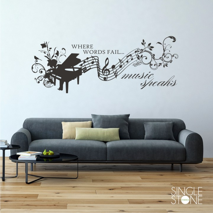 music speaks - wall decals - wall decals | wall stickers | vinyl