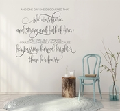 Passion Burned Brighter Than Her Fears - Mark Anthony Wall Decal