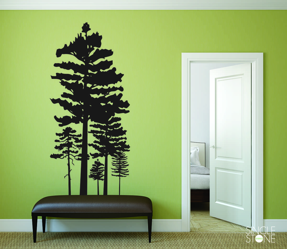 Pine Tree Grouping - Wall Decals - Wall Decals | Wall Stickers ...