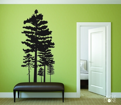 Pine Tree Grouping - Wall Decals