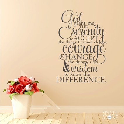 Serenity Prayer - Wall Decals