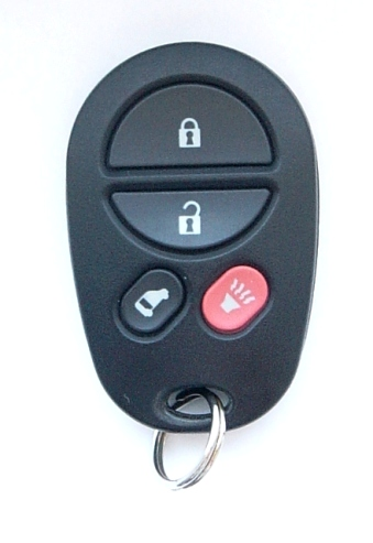 2006 toyota sienna le remote keyless entry used fob 89742 ae020. Black Bedroom Furniture Sets. Home Design Ideas