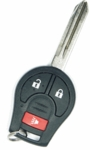 2014 Nissan Rogue Keyless Entry Remote Key - 3 button