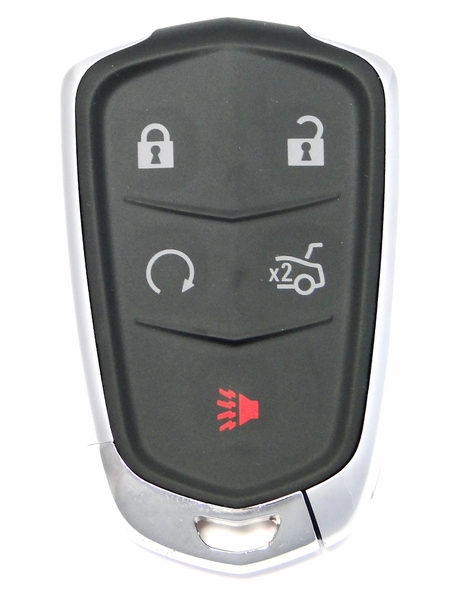 cadillac ct remote keyless entry key fob   hyqab