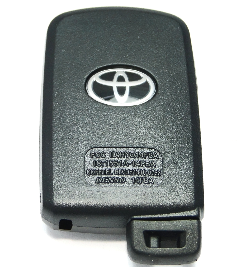 2015 toyota corolla smart proxy remote keyless entry key fob transmitter 89904 06140 hyq14fba. Black Bedroom Furniture Sets. Home Design Ideas