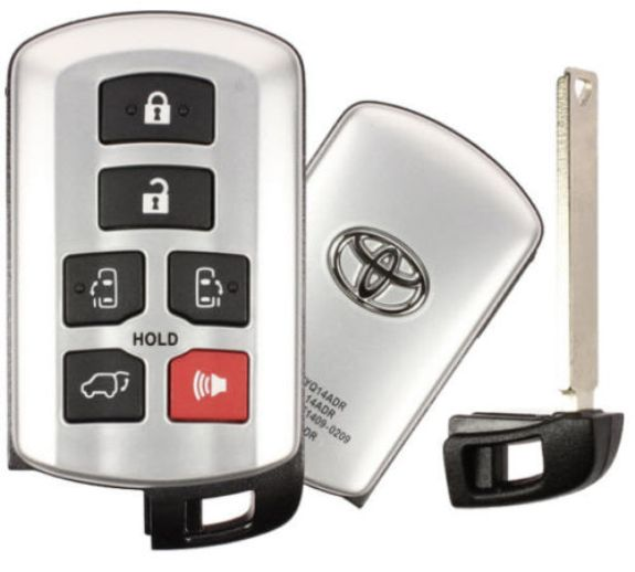 2018 Toyota Sienna Smart Proxy Remote Keyless Entry Key